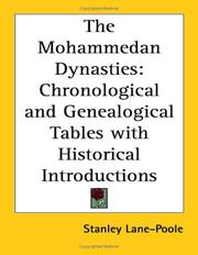 Cover of: The Mohammedan dynasties by Stanley Lane-Poole