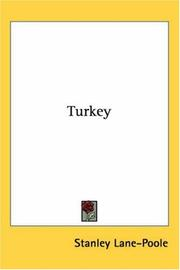 Cover of: Turkey by Stanley Lane-Poole