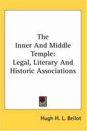 Cover of: The Inner And Middle Temple | Hugh H. L. Bellot