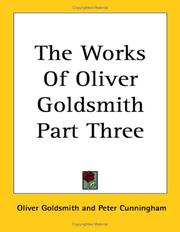 Cover of: The Works of Oliver Goldsmith | Oliver Goldsmith