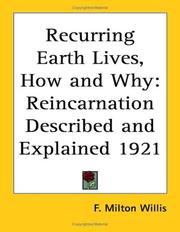 Cover of: Recurring Earth Lives, How and Why | F. Milton Willis