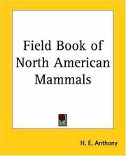 Field book of North American mammals
