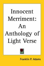 Cover of: Innocent merriment | Franklin P. Adams