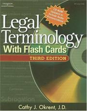 Cover of: Legal Terminology with Flashcards (West Legal Studies) by Cathy Okrent