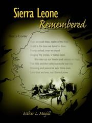 Cover of: Sierra Leone Remembered | Esther, L. Megill