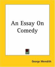 Cover of: An Essay On Comedy | George Meredith