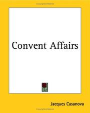 Cover of: Convent Affairs | Jacques Casanova