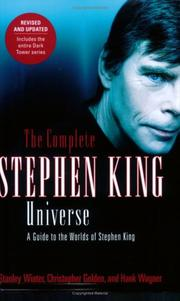 Cover of: The Complete Stephen King Universe | Stanley Wiater, Christopher Golden, Hank Wagner