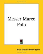 Cover of: Messer Marco Polo | Donn Byrne