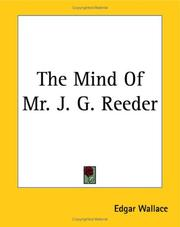 Cover of: The mind of Mr J.G. Reeder | Edgar Wallace