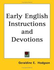 Cover of: Early English Instructions and Devotions | Geraldine E. Hodgson