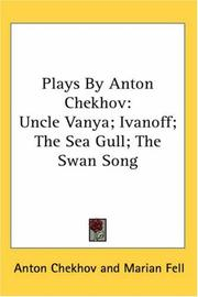 Cover of: Plays by Anton Chekhov by Anton Pavlovich Chekhov