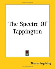 Cover of: The Spectre of Tappington | Thomas Ingoldsby
