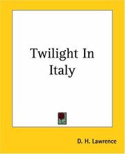 Cover of: Twilight in Italy by D. H. Lawrence