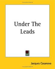Cover of: Under The Leads | Jacques Casanova