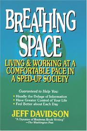 Cover of: Breathing Space | Jeff Davidson