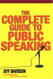 Cover of: The Complete Guide To Public Speaking | Jeff Davidson