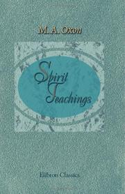 Cover of: Spirit Teachings | M. A. Oxon