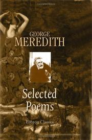 Cover of: Selected Poems of George Meredith | George Meredith