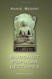 Cover of: Buddhist Popular Lectures | Annie Wood Besant