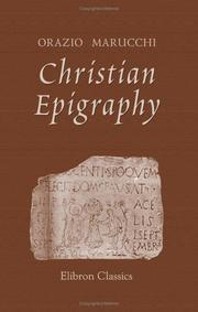 Cover of: Christian Epigraphy | Orazio Marucchi