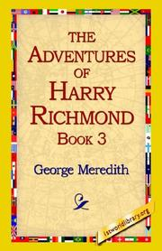 Cover of: The Adventures of Harry Richmond, Book 3 | George Meredith