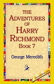 Cover of: The Adventures of Harry Richmond, Book 7 | George Meredith