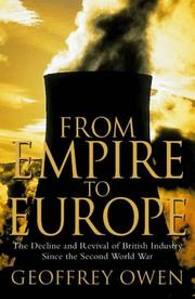 Cover of: From Empire to Europe by Geoffrey Owen