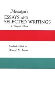 Cover of: Montaigne's Essays and Selected Writings | Donald M. Frame