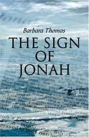 Cover of: The Sign of Jonah | Barbara Thomas