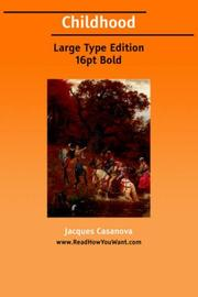 Cover of: Childhood | Jacques Casanova