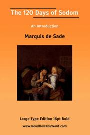 Cover of: The 120 Days of Sodom An Introduction | Marquis de Sade