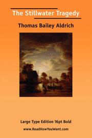 Cover of: The Stillwater Tragedy | Thomas Bailey Aldrich