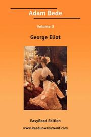 Cover of: Adam Bede Volume II by George Eliot