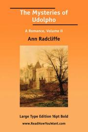 Cover of: The Mysteries of Udolpho A Romance, Volume II | Ann Ward Radcliffe