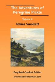 Cover of: The Adventures of Peregrine Pickle Volume II | Tobias Smollett
