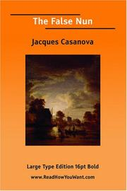 Cover of: The False Nun by Jacques Casanova