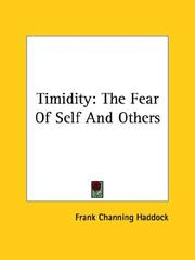 Cover of: Timidity | Frank Channing Haddock