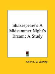 Cover of: Shakespeare's A Midsummer Night's Dream | Albert S. G. Canning