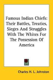 Cover of: Famous Indian Chiefs | Charles H. L. Johnston
