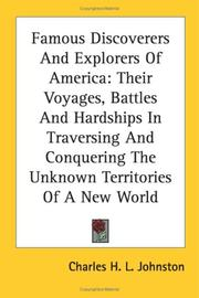 Cover of: Famous Discoverers And Explorers Of America | Charles H. L. Johnston