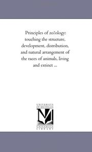 Cover of: Principles of zo?ology | Michigan Historical Reprint Series