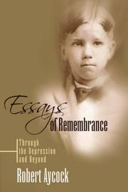 Cover of: Essays of Remembrance | Robert Aycock