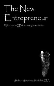Cover of: The New Entrepreneur | Shahriar Mohammad Saadullah CPA