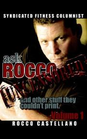 Cover of: askROCCO Uncensored Volume 1 by Rocco Castellano