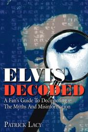 Cover of: Elvis Decoded | Patrick Lacy