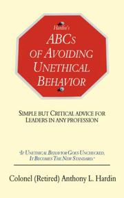 Cover of: Hardin's ABCs of Avoiding Unethical Behavior | Anthony, L. Hardin