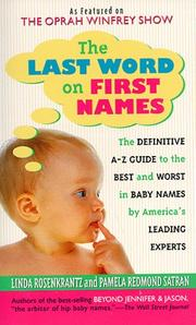 Cover of: The Last Word on First Names by Pamela Redmond Satran