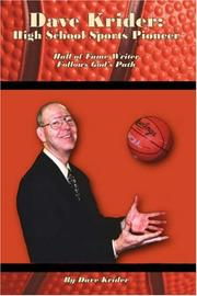 Cover of: Dave Krider: High School Sports Pioneer | Dave Krider