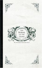 Cover of: The Burial of the Guns | Thomas Nelson Page